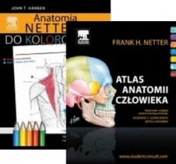Atlas anatomii człowieka Nettera (nazewnictwo łacińskie) + Anatomia Nettera do kolorowania