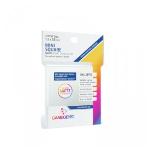 Gamegenic: Matte Mini Square-Sized Sleeves (53x53 mm), 50 sztuk