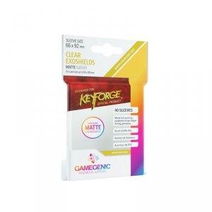 Gamegenic: Matte KeyForge Exoshields Clear (66x92 mm), 40 sztuk
