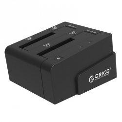 ORICO ZEWNĘTRZNA STACJA DOKUJĄCA HDD 2,5/3,5 SATA 3.0 USB 3.0 KLONOWANIE - CZARNA