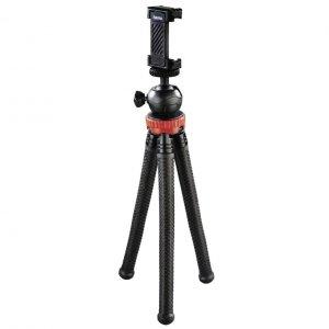 Statyw Hama mini Flexpro 3w1, 27 cm, czerwony