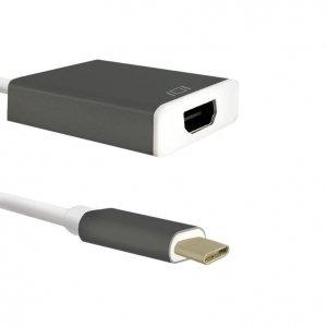 Adapter Qoltec USB 3.1 typC męski / HDMI A żeński