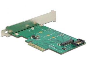 Karta rozszerzeń Delock PCI Express -> M.2 Key M NVME + SATA 6GB/s