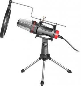 Mikrofon przewodowy Defender FORTE GMC 300 ze statywem STREAM strumieniowy