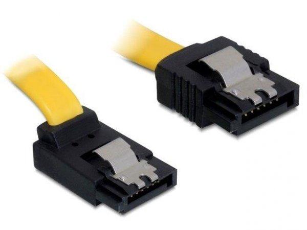 Kabel SATA Delock DATA III 0,3m z zatrzaskami metalowymi kątowy góra/prosty