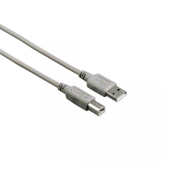 Kabel USB 2.0 Hama USB A (M) - USB B (M) 1,8m