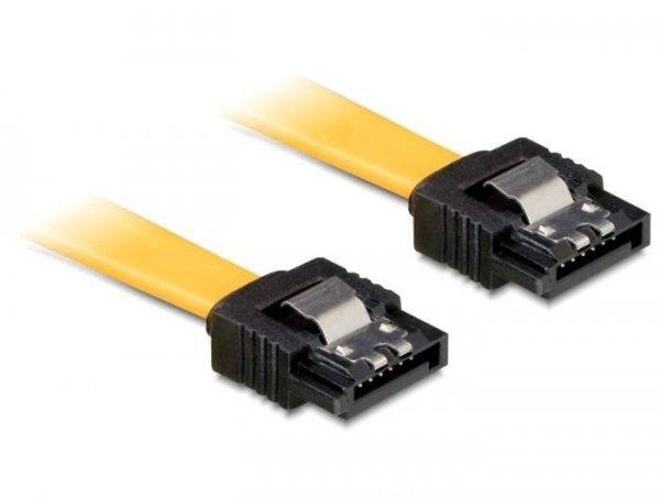 Kabel Delock SATA DATA III 0,2m z zatrzaskami metalowymi (krótkie wtyczki)