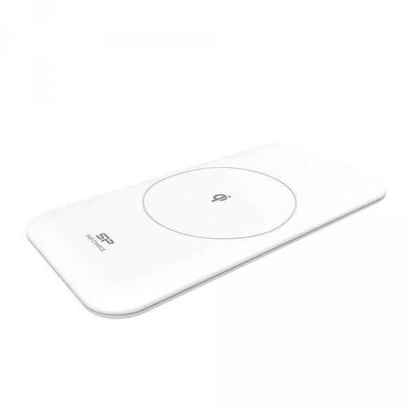 Ładowarka indukcyjna Silicon Power Io Qi210 5W/10W (QC) / iPhone 7,5W, micro-USB, white
