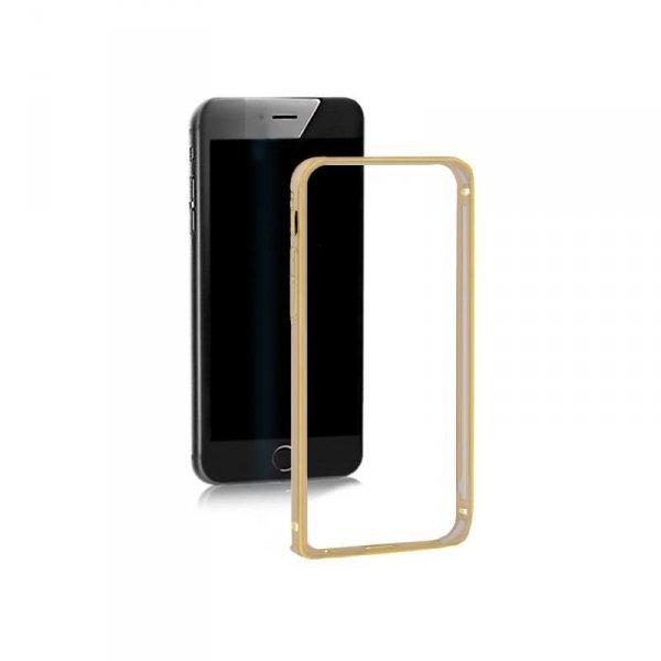 Ramka ochronna Qoltec na Samsung Galaxy S6 edge   złota   alu.