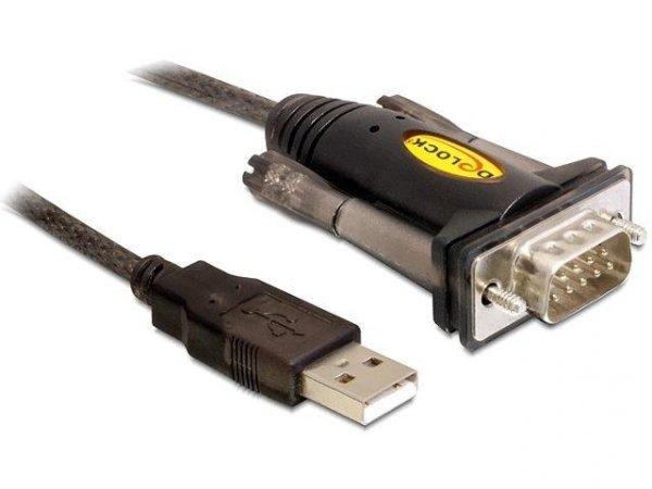 Kabel adapter Delock USB-A 2.0(M)-> RS-232/COM/DB9 (M)