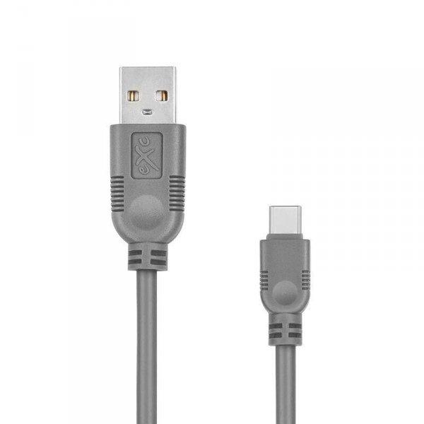 Kabel USB 2.0 eXc WHIPPY USB A(M) - USB 3.1 TYPU C(M) 5-pin, 2m, szary