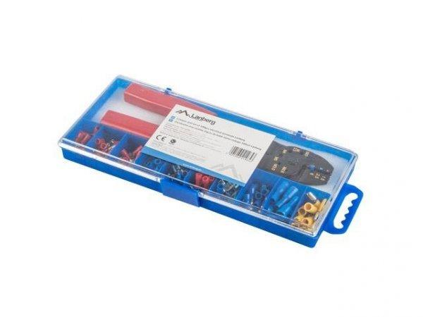 Zestaw złączy do kabli Lanberg różne rodzaje 100 sztuk w pudełku + zaciskarka