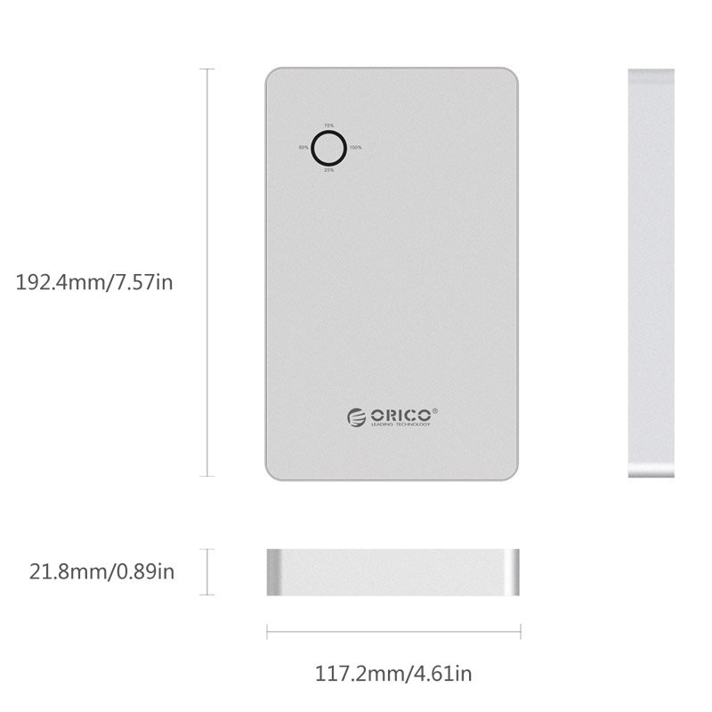 ORICO PowerBank 28800 mAh - 2xUSB + laptop