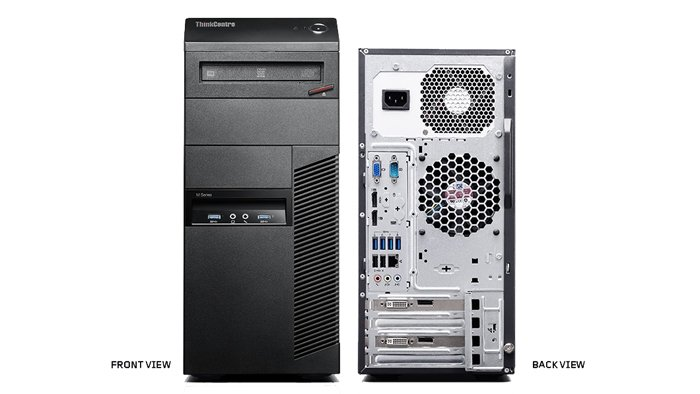 LENOVO KOMPUTER THINKCENTRE M900 M93P MiniTower i7-4770 8GB 500GB DVD-RW WIN10PRO - poleasingowy