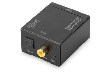 Konwerter sygnału Audio DIGITUS 1xCoax/Toslink do 2xRCA (Stereo)
