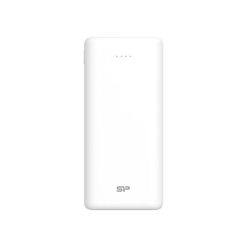 Powerbank Silicon Power Share C20QC 20000mAh 2xUSB Typ A + 1x USB Typ-C, LED biały