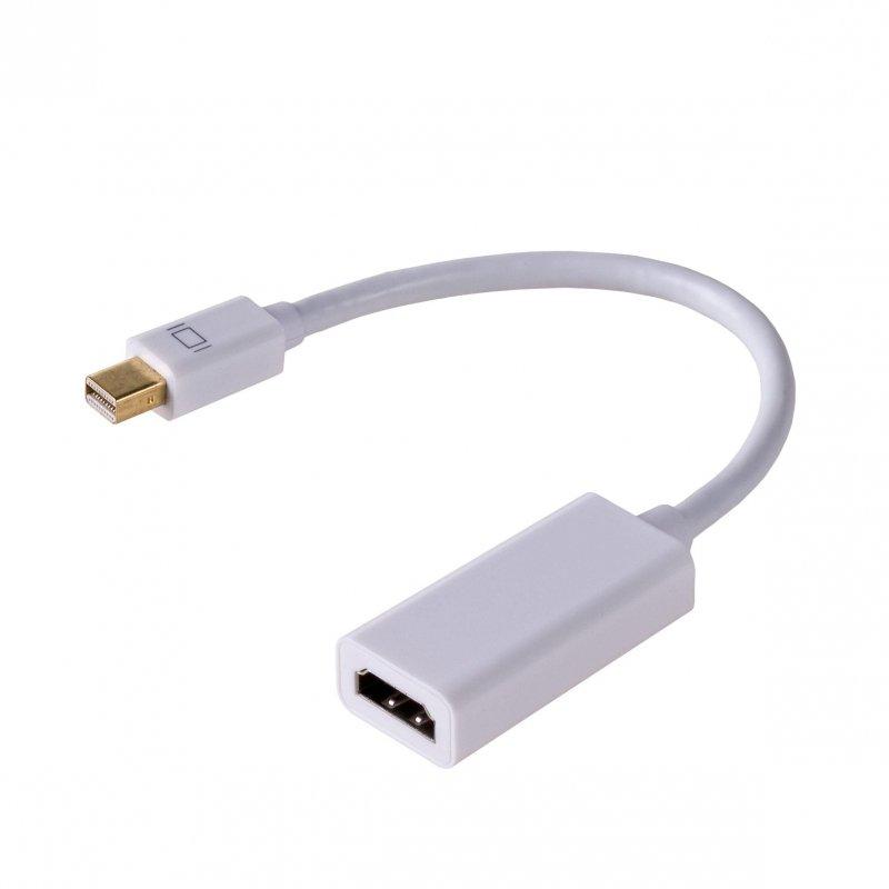 Kabel adapter Akyga AK-AD-38 HDMI F - mini DisplayPort M 0,15m