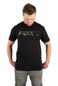 Fox t-shirt Black/Camo Chest Print T-Shirt XL CFX022