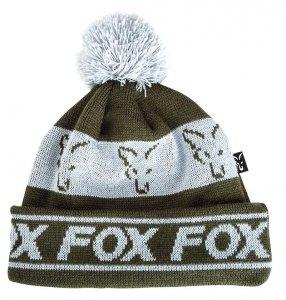 FOX Czapka GREEN & SILVER LINED BOBBLE CPR990