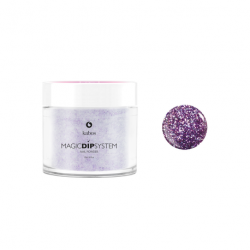 Puder do manicure tytanowy 20g - KABOS Dip 16 Purple Sparkles