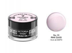 No.10 Przezroczysty różowy żel budujący 15ml Victoria Vynn Pink Glass