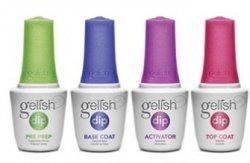 Gelish Dip - Zestaw płynów do manicure tytanowego - krok 1-4