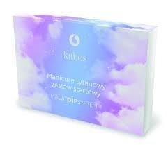 Zestaw do manicure tytanowego Kabos Dip ( z pudrami do wyboru)