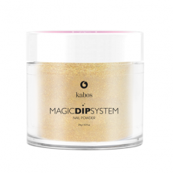Puder do manicure tytanowy 20g - KABOS Dip  37 Gold Dust
