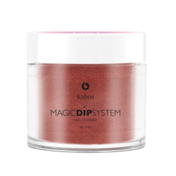 Puder do manicure tytanowy 20g - KABOS Dip  39 Copper Shine