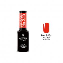 Lakier hybrydowy Gel Polish Color BRICK RED nr 255 VICTORIA VYNN - 8 ml SPRING 2020