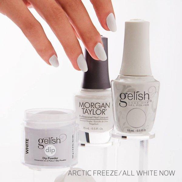 Puder do manicure tytanowego - GELISH DIP - Arctic freeze - biały - (1611876) - 105 G - duża pojemność