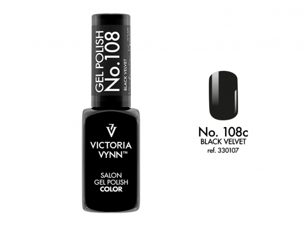 108 Black Velvet  Lakier Hybrydowy Victoria Vynn Gel Polish - czarny