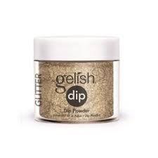 Puder do manicure tytanowy - GELISH DIP - Glitter & Gold 23 g (1610076)