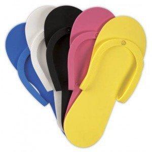 JAPONKI / klapki gumowe kolor do pedicure 1 para