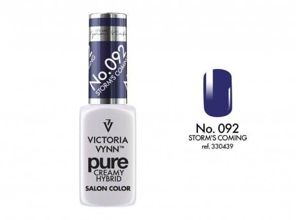 092 Storm's Coming - kremowy lakier hybrydowy Victoria Vynn PURE (8ml)