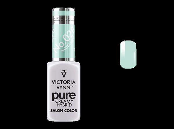028 Pastel Mint - kremowy lakier hybrydowy Victoria Vynn PURE (8ml)