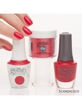Lakier hybrydowy kolor: Scandalous 15 ml (1110144) - kremowy Gelish czerwony