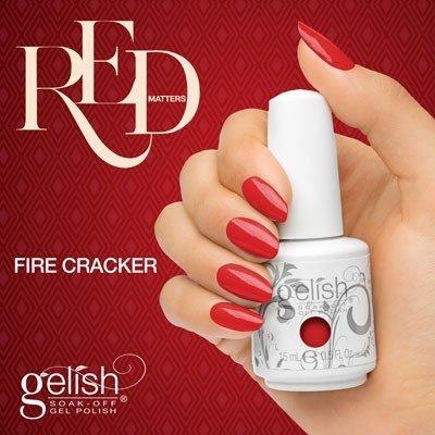 Lakier hybrydowy kolor: Fire Cracker 15 ml (1110804) - kremowy Gelish