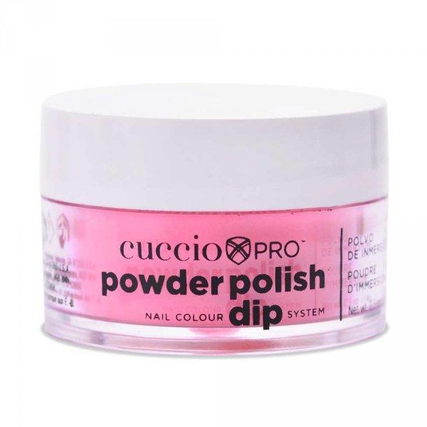 Cuccio manicure tytanowy - 5592 DIP SYSTEM PUDER Neon Pink 14 G