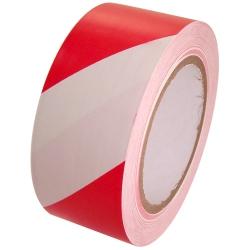 Taśma 70mm x 500m oznaczeniowa biało-czerwona