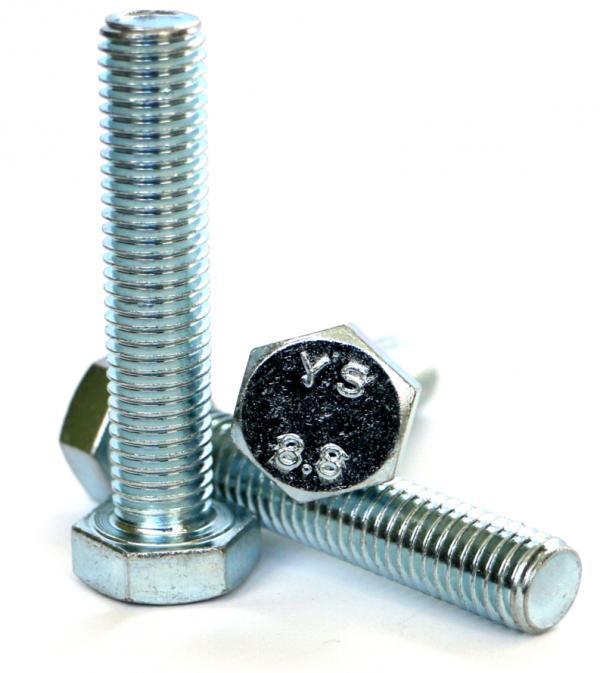 Śruby M8x45 kl.8,8 DIN 933 ocynk - 1 kg