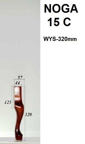 Noga drewniana 15-C