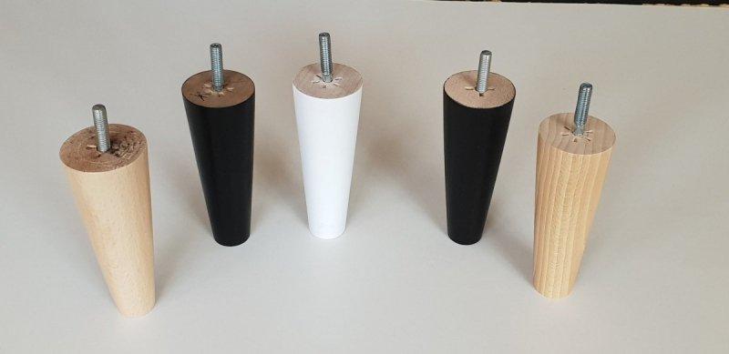 Noga drewniana do mebli 13 B/stożek prosty/orzech