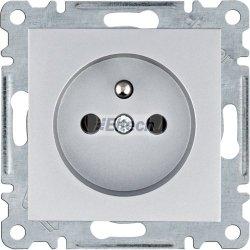 lumina Gniazdo zasilające z uziemieniem, 16A/250VAC, srebrny WL1022