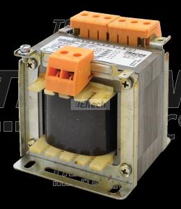 Zwykły transformator jednofazowy 230V / 24-230V, max.100VA TVTR-100-F