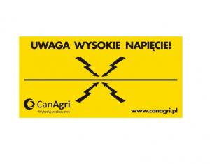Tabliczka ostrzegawcza UWAGA WYSOKIE NAPIĘCIE 1szt.
