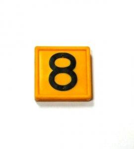 Numer 8 na obroże identyfikacyjną