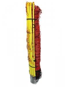 Siatka elektryczna dla owiec, 50m, 90 cm, poj.szpic, pomarańczowa