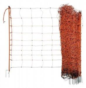 Siatka OviNet dla owiec 50m, 108 cm, poj.. szpic, pomarańczowa