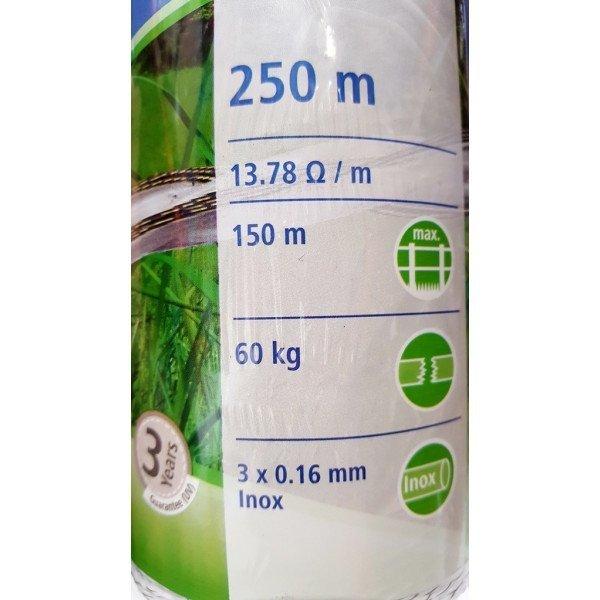 Plecionka BASIC 250m biała